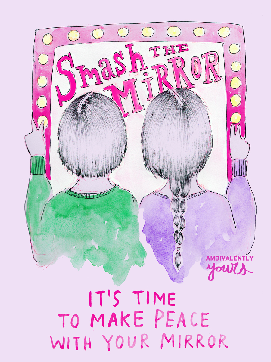 Smash The Mirror official logo from Ambivalently Yours